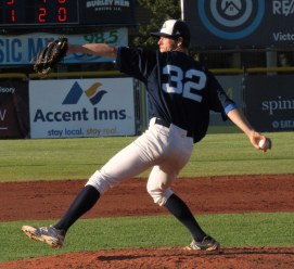 Cats starter Luke Manual had a rough start, giving up 6 hits and 3 runs n 2 innings of work